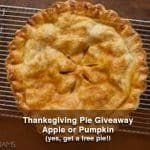2016 Thanksgiving Pie Giveaway
